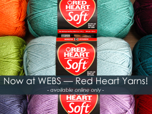 Red Heart Yarns now available at WEBS - America's Yarn Store