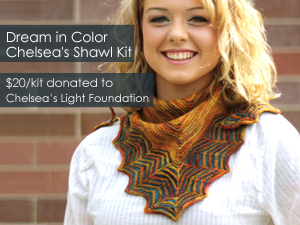 Dream in Color Chelsea's Shawl Kit - $20/kit donated to Chealsea Light Foundation