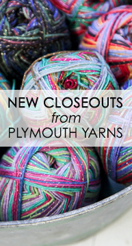 New Closeouts from Plymouth Yarns