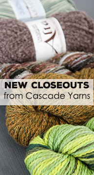 New Closeouts from Cascade Yarns
