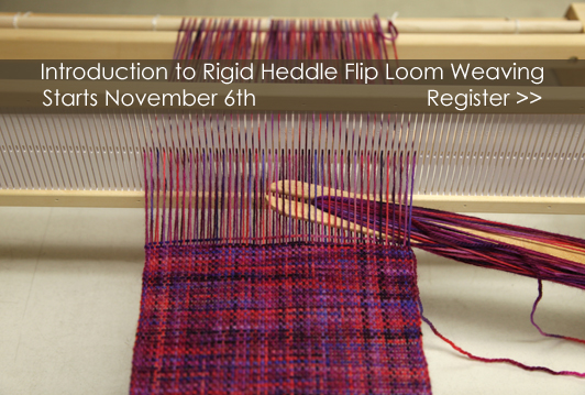 Introduction to Rigid Heddle Flip Loom Weaving Class, starts November 6 at WEBS