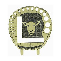 Brass Sheep Needle Stitch Gauge