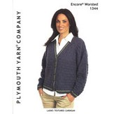 Plymouth Yarn 1344 Ladies Textured Cardigan