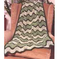 P169 Classic Feather And Fan Afghan