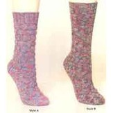 Plymouth Yarn S132 2 Styles Ladies Socks