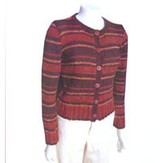 Knit One Crochet Too 1428 Recycled Stripes Cardie