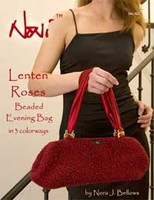 122 Lenten Roses Beaded Evening Bag