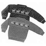 Yankee Knitter Designs 1 Child's Sheep & Reindeer Sweaters