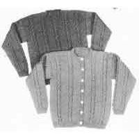 25 Adult's Cable Sweater Pullover or Cardigan