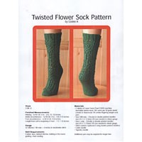 Twisted Flower Sock