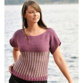 A141 Slip Stitch Short Sleeve Top (Free)