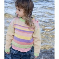 DK227 Girl's Striped Sweater (Free)
