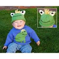 W220 220 Superwash Frog Sweater & Hat (Free)