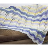 Cascade Yarns W446 Waves and Sunshine Blanket (Free)