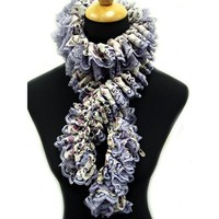 Scarf with Double Ruffle (Free)