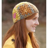 Classic Elite Yarns 9198 Granny Square Patchwork Hat PDF