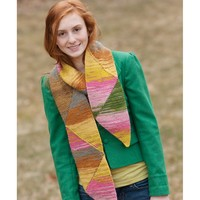 9198 Short Row Triangle Scarf PDF