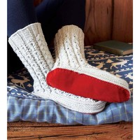 Cabled Slipper Socks PDF