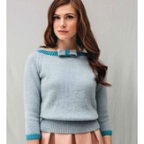 Debbie Bliss Raglan Sweater with Bow PDF
