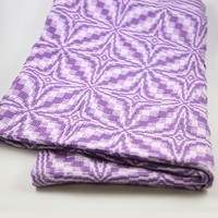 #60 Blooming Leaf Baby Blanket in 4-Shaft Colonial Overshot PDF