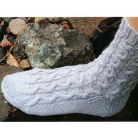 Magic Loop Cable Socks
