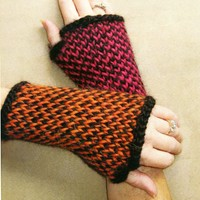 A-22 Twined Fingerless Gloves PDF