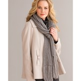 S.Charles Collezione Indulgence Ribbed Scarf (Free)