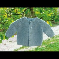 211 Child's Garter Stitch Cardigan