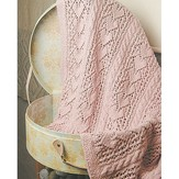 Knit One Crochet Too 1986 Heirloom Hearts Baby Blanket