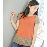 Knit One Crochet Too 1996 Orange Crush Tunic