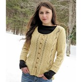 Knit One Crochet Too 2130 Vine & Arrows Cardi