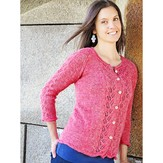 Knit One Crochet Too 2200 Red Rose Cardi