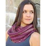 Knit One Crochet Too 2220 Woven Flowers Infinity Scarf
