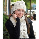 Valley Yarns 275 Feather and Garter Hat & Scarf