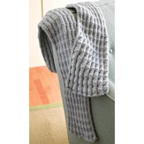 Valley Yarns 286 Shale Pleated Scarf (Free Pattern)