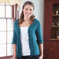 361 Teal Top-Down Cardigan