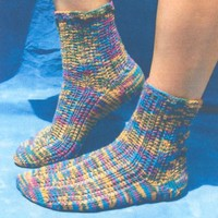 3338 Striped Lace Ankle Socks