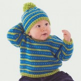 Minnow Knits 254 Fair Isle Sweater and Hat