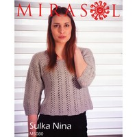 5080 Lace And Seed Stitch Short Sweater