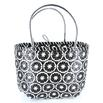 Lantern Moon Repurposed Plastic Tote - Blkwhite