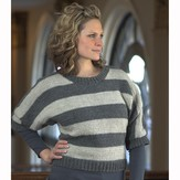 Plymouth Yarn 2126 Women's Striped Pullover