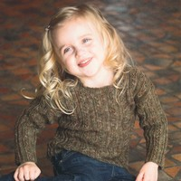2151 Happy Feet DK Child's Cabled Pullover