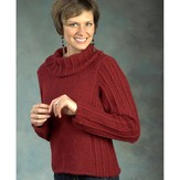 Plymouth Yarn 2442 Cowl Neck Pullover