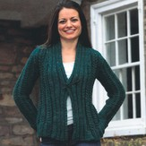 Plymouth Yarn 2451 Woman's Cabled Cardigan