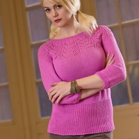 2568 Woman's Lace Yoke Pullover