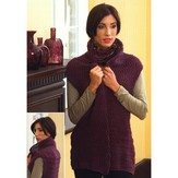 Plymouth Yarn 2695 Zig-Zag Shawl Collar Vest
