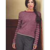 Plymouth Yarn 2711 Ladies Single Row Stripe Pullover