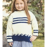 Plymouth Yarn 2911 Kid's Nautical Pullover