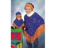 P426 Girl And Doll's Poncho & Hat