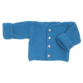 Plymouth Yarn F165 Encore Easy Garter Stitch Baby Sweater (Free)